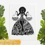 Black Woman Libra SVG