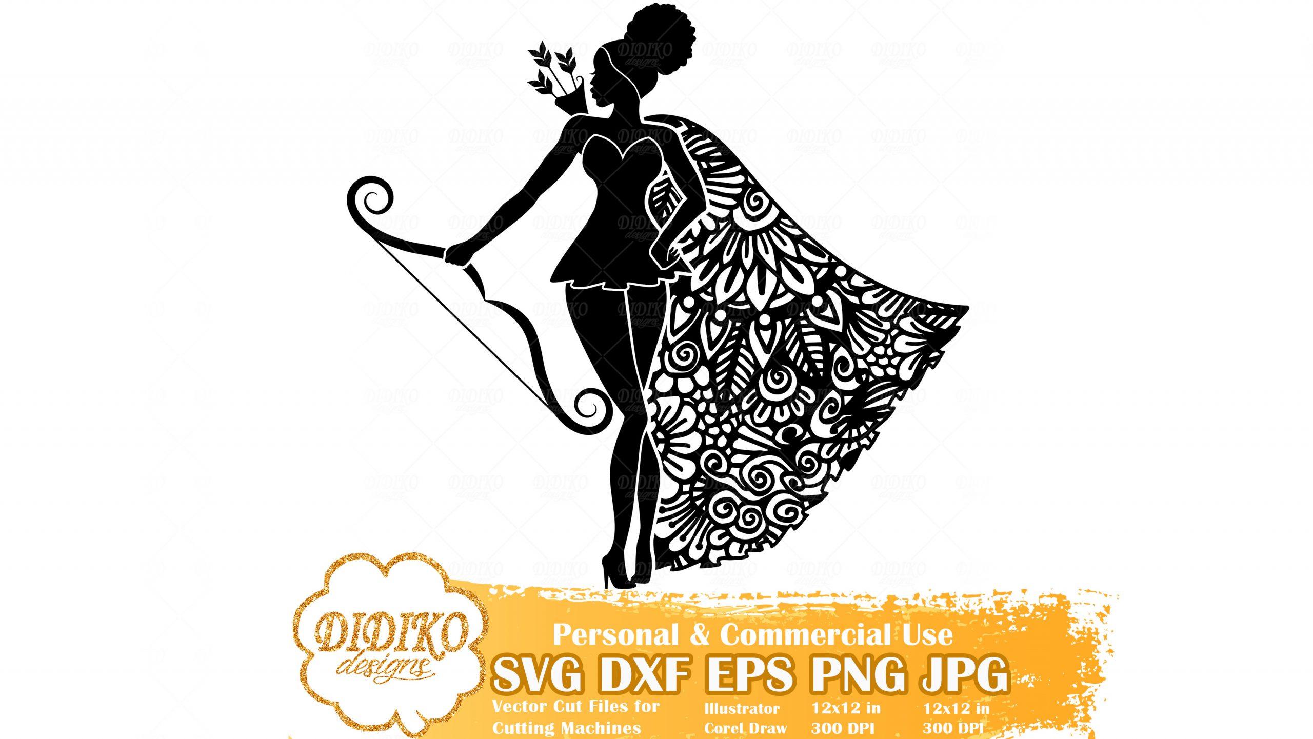 Black Woman Leo SVG