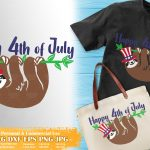 Sloth 4th of July SVG #3