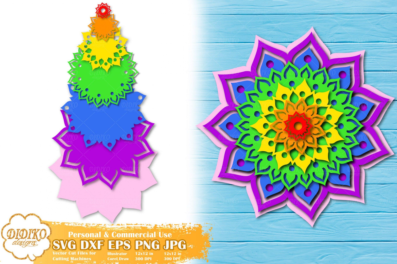 3D Mandala SVG | 3D Layerd Mandala | Papercut SVG