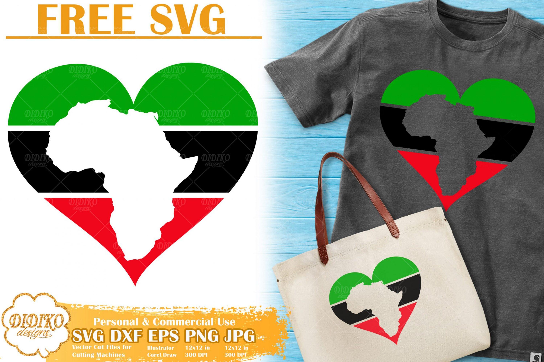 Africa Heart SVG #2   Black History Month Svg Cricut file