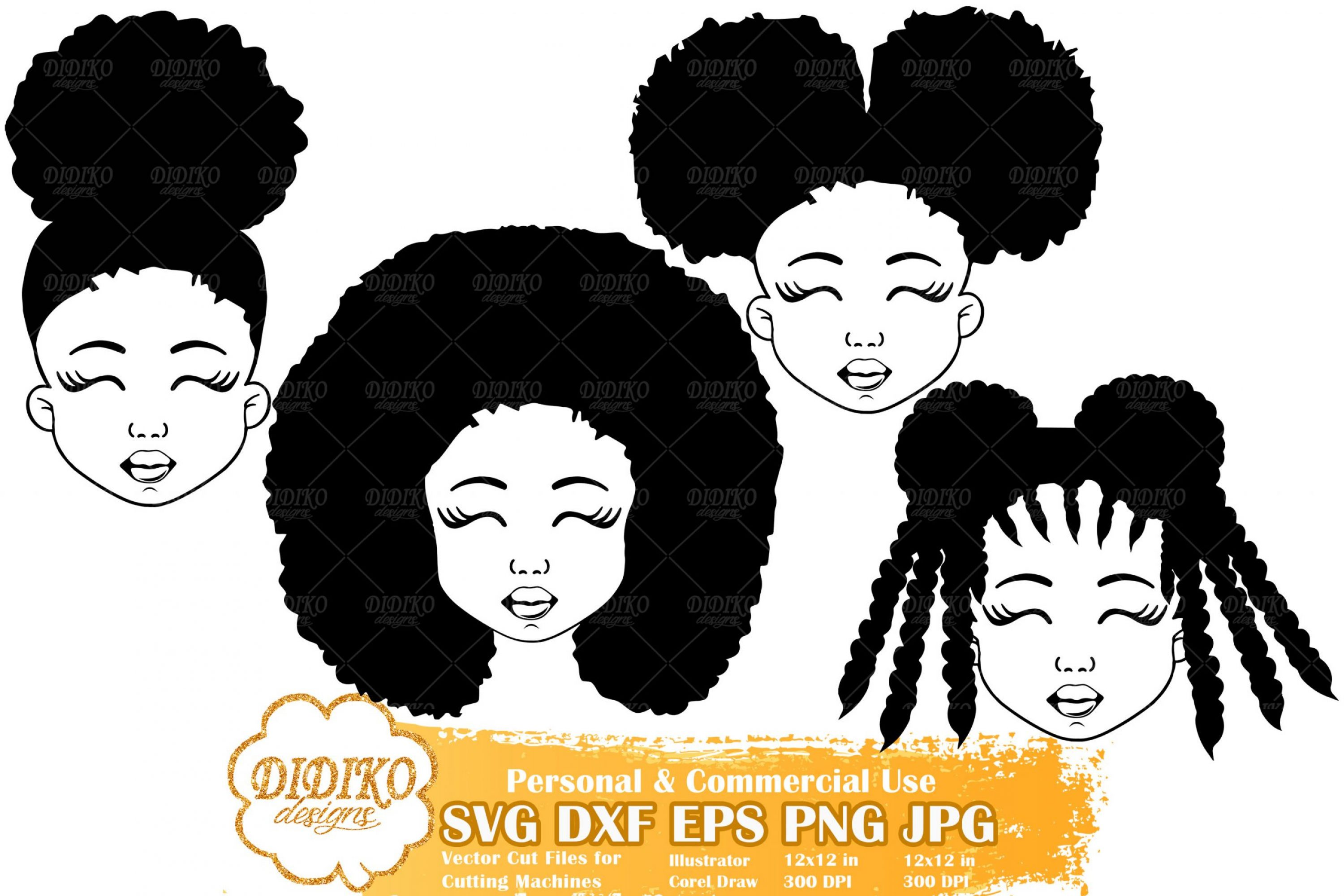 Black Girl SVG Bundle #1 | Afro Girl Svg | Silhouette File