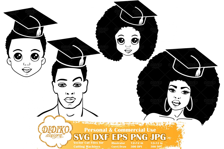 Black Woman Graduation SVG #6 | Black Family SVG