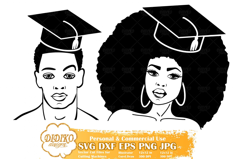 Black Woman Graduation SVG #9 | Black Man SVG File
