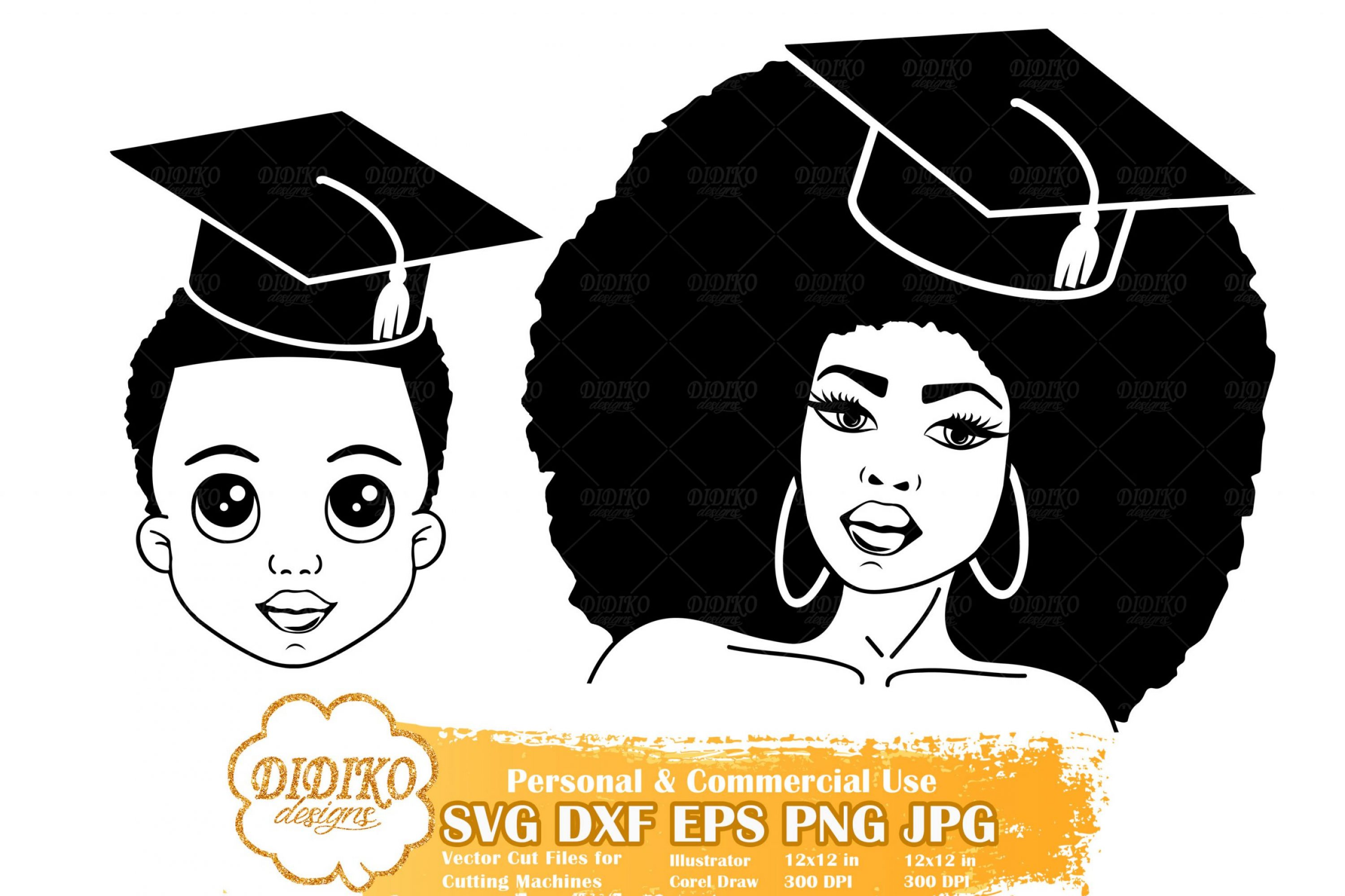 Black Woman Graduation SVG #8 | Mother and Son Svg