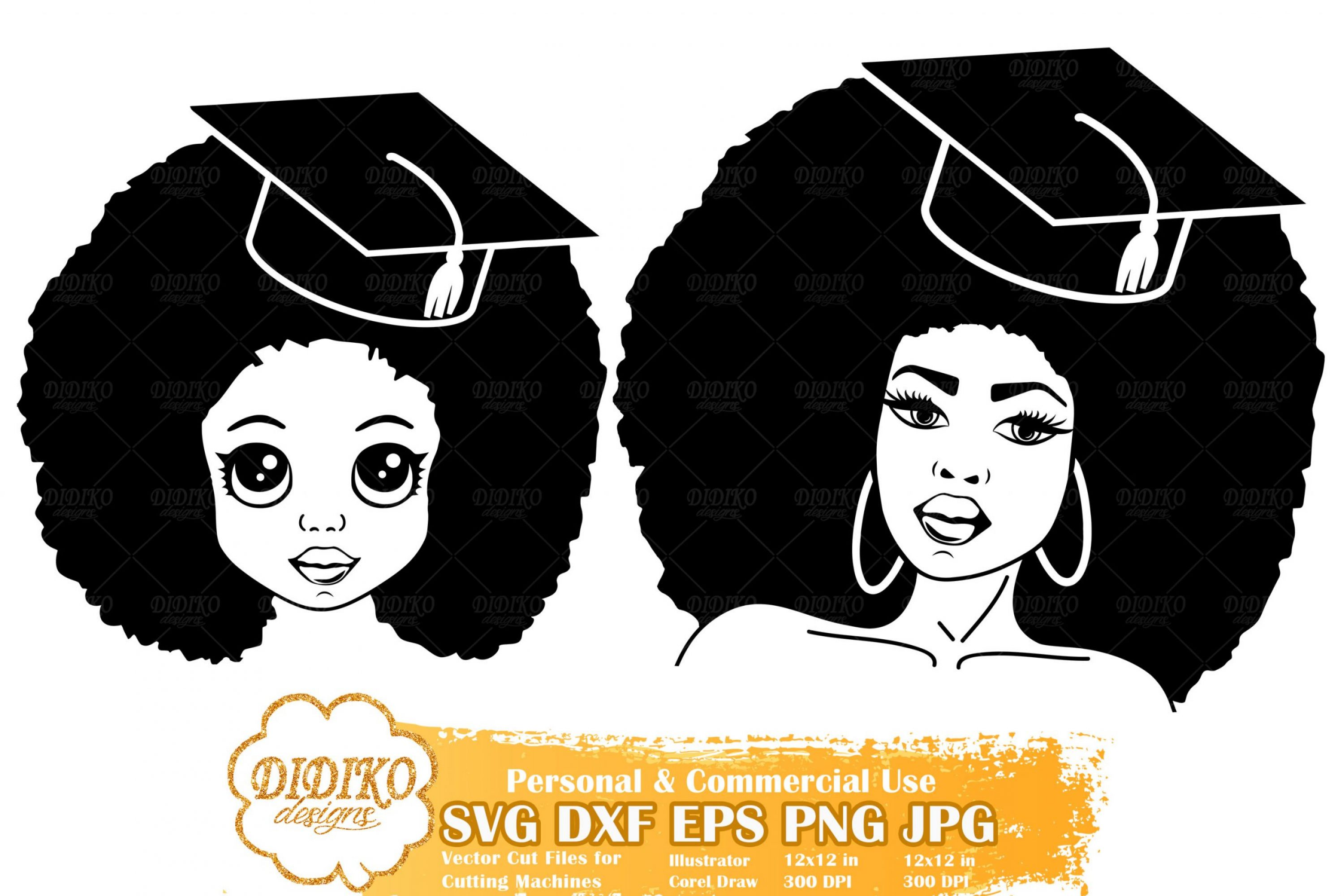 Black Woman Graduation SVG #7 | Mother and Daughter Svg