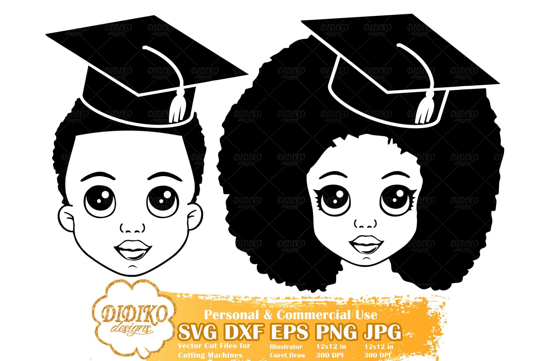 Black Girl Graduation SVG #2 | Black Boy SVG File