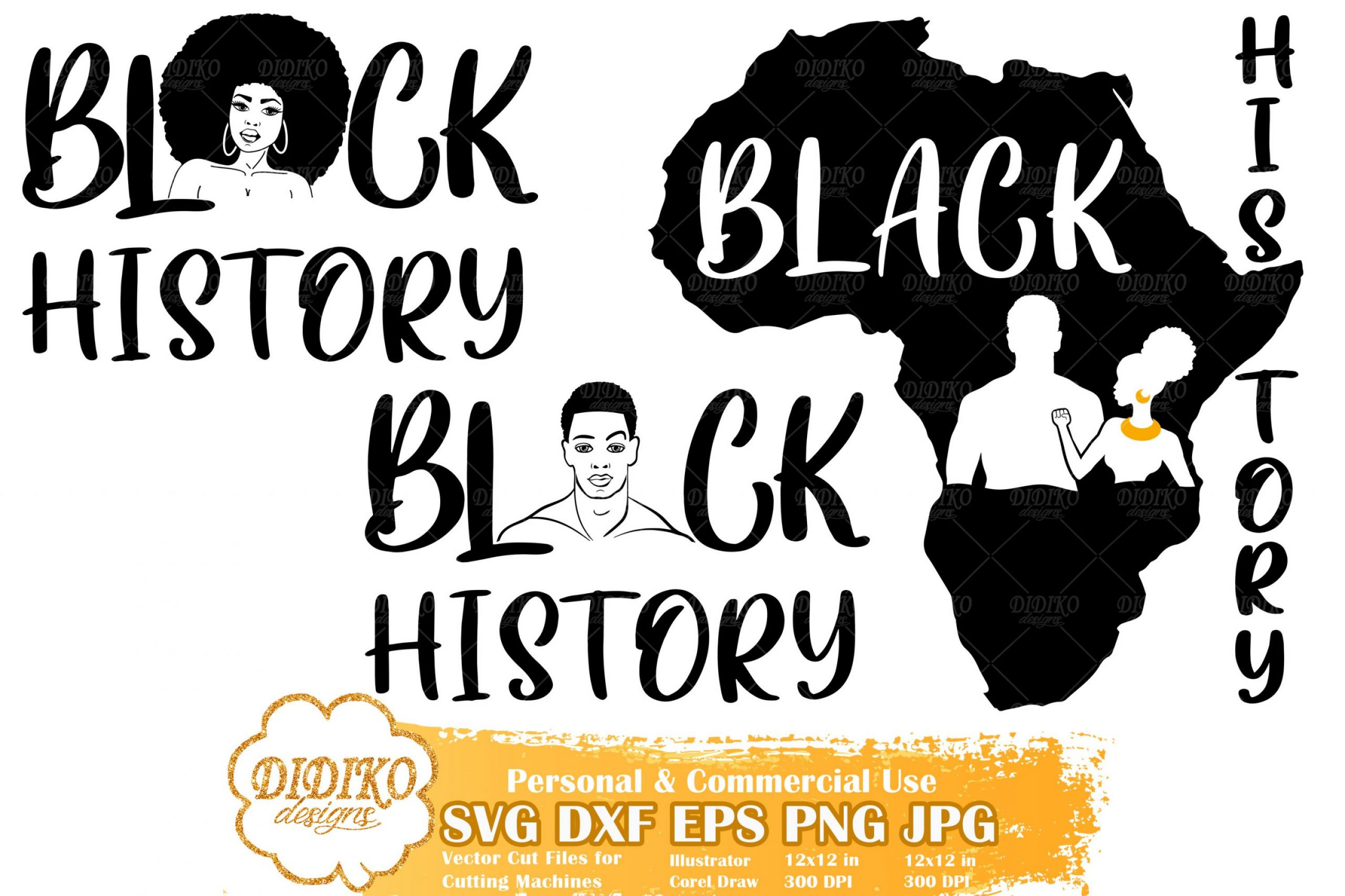 Black History Bundle SVG #1 | Black Woman SVG File