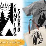 Camping Squad SVG