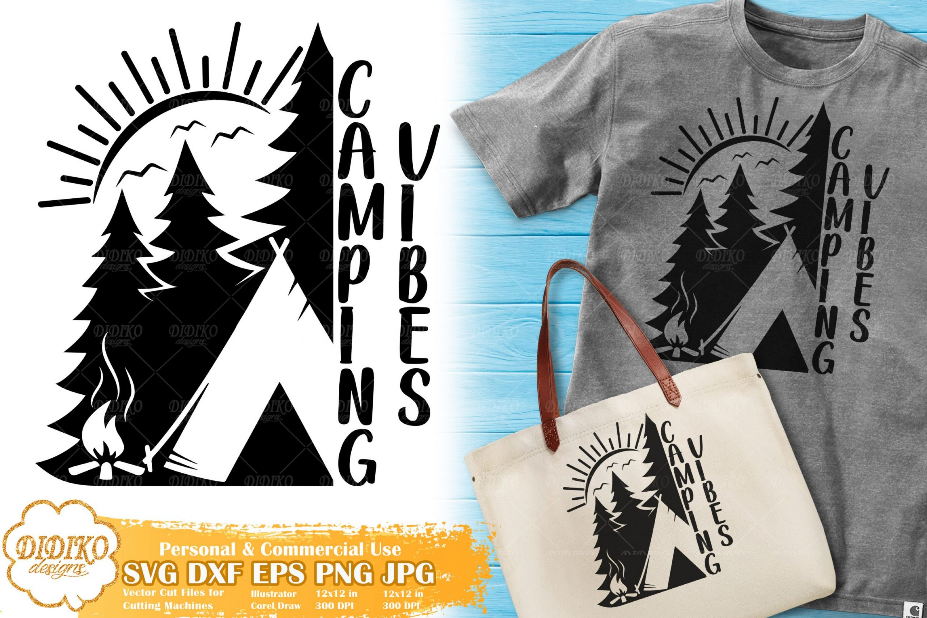 Camping Vibes SVG | Summer Camp SVG for Cricut