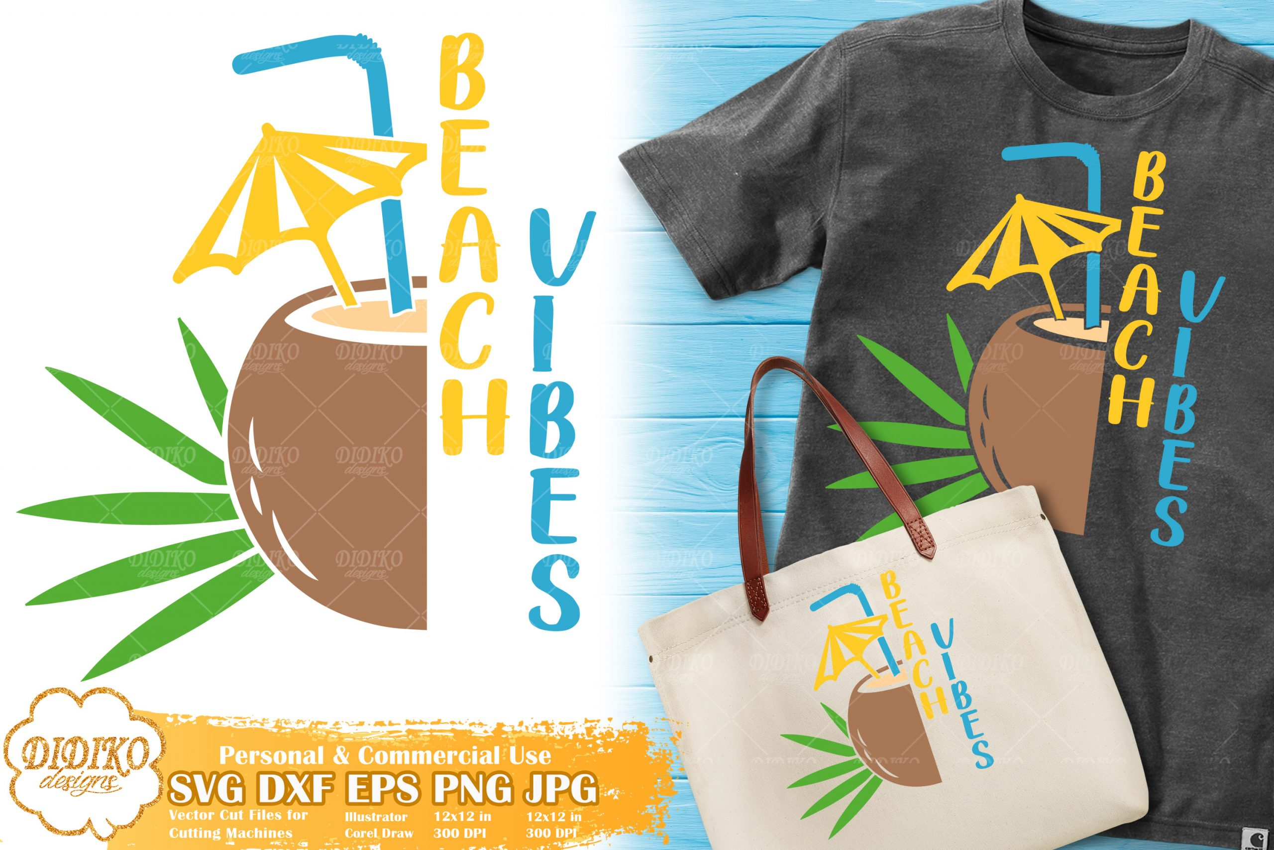 Coconut Beach Vibes SVG