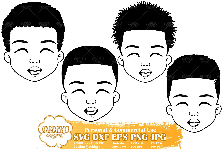 Black Boy SVG Bundle #1 | Afro Boy Svg | Silhouette File