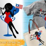 Black Woman 4th of July SVG #1