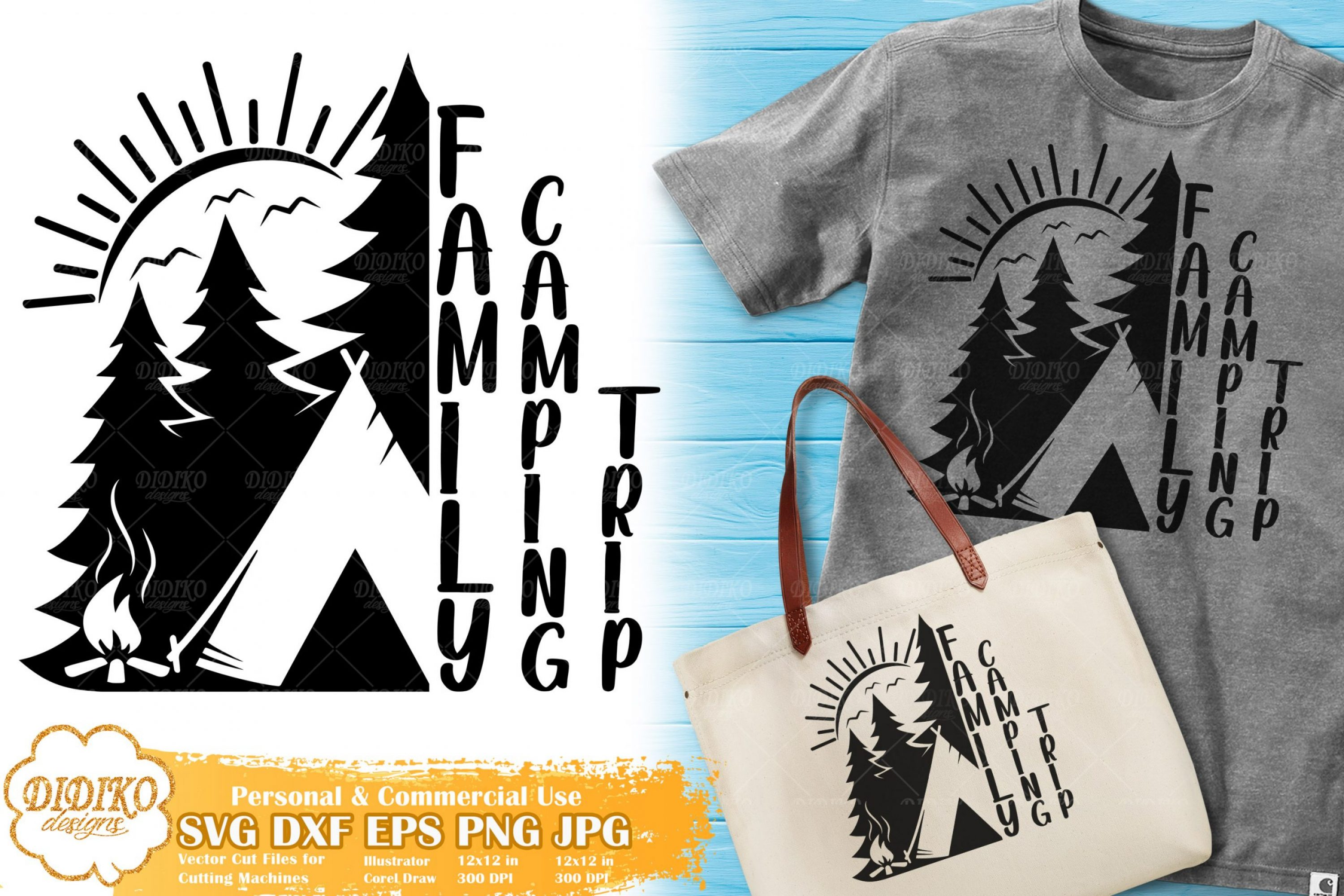 Family Camping Trip SVG   Summer Camp svg for Cricut