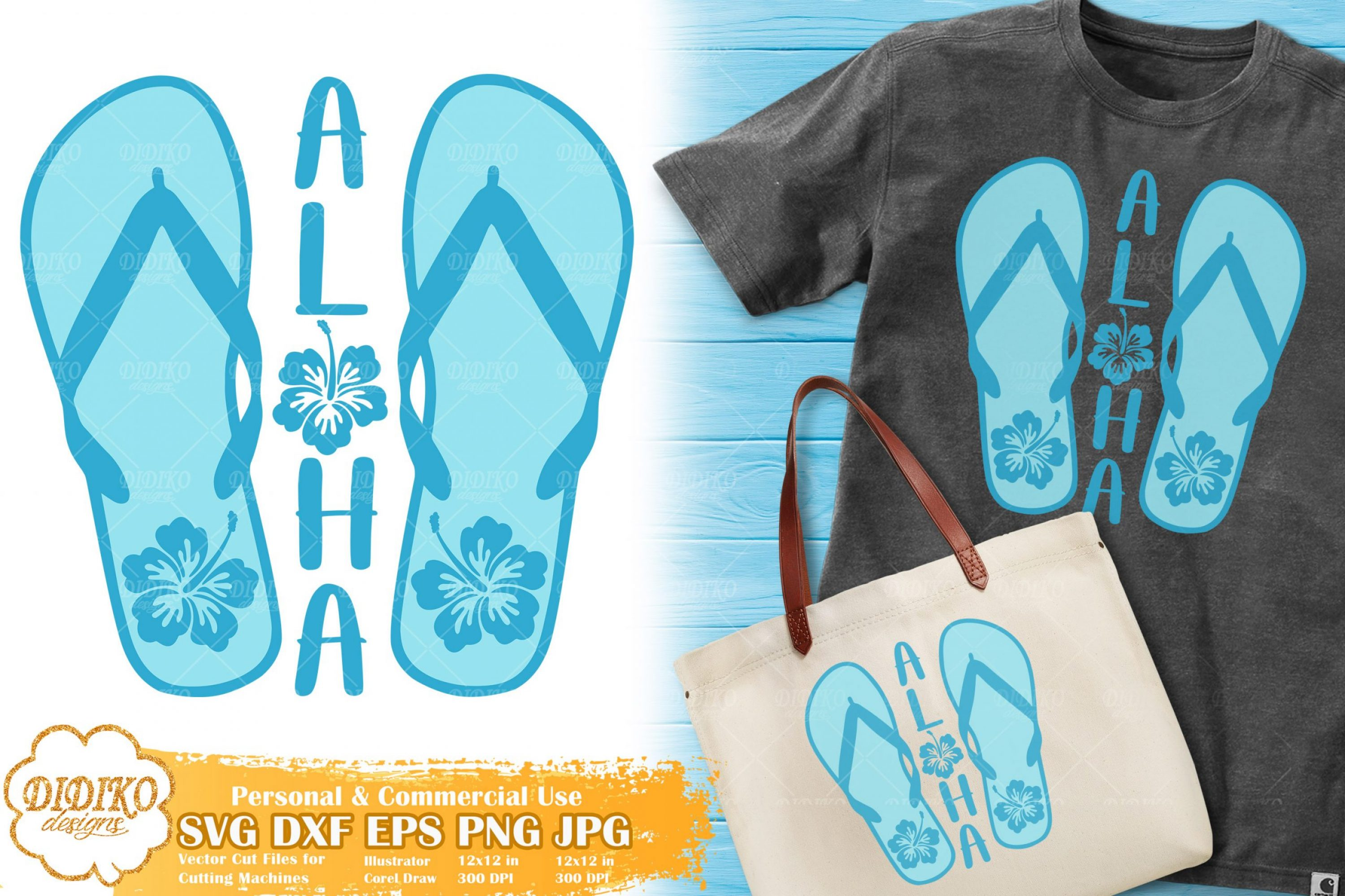Aloha Flip Flops SVG | Flip Flops Saying SVG Cut File