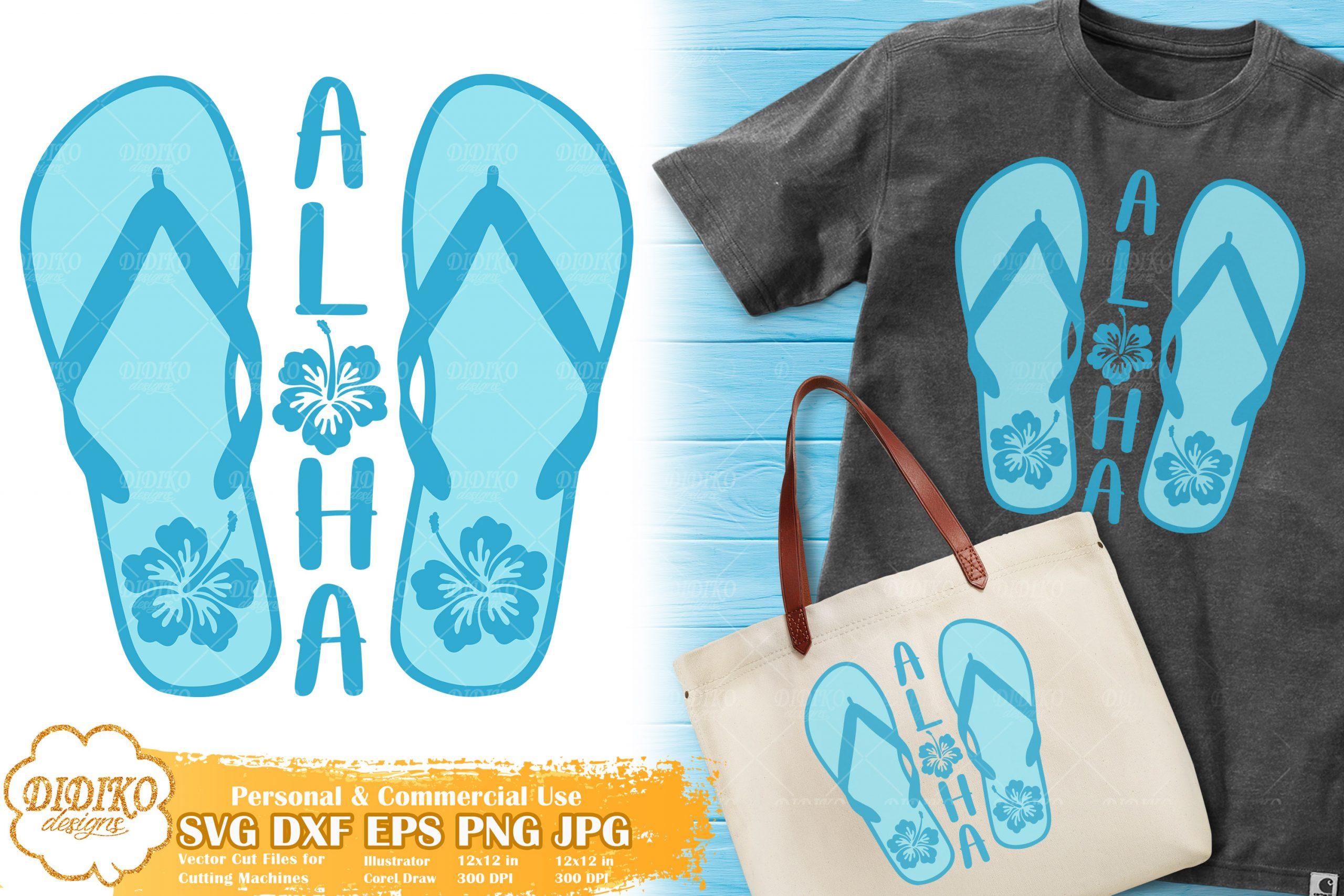Aloha Flip Flops SVG