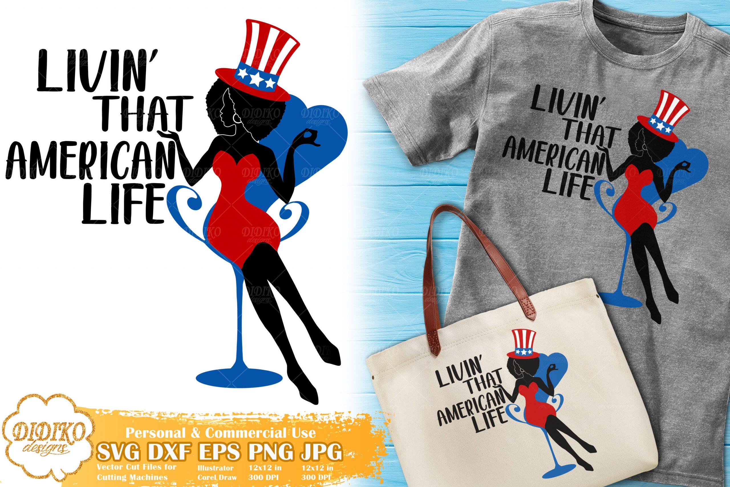Black Woman 4th of July SVG #3