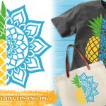 Pineapple Mandala SVG
