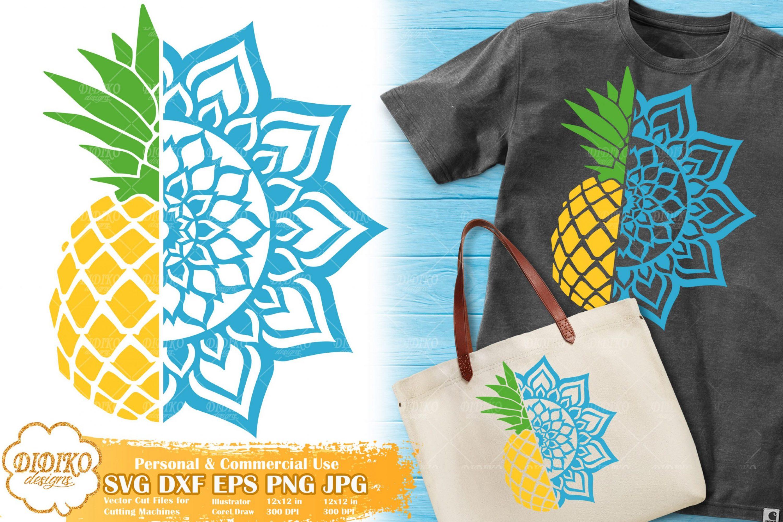 Pineapple Mandala SVG | Summer Zentangle SVG File