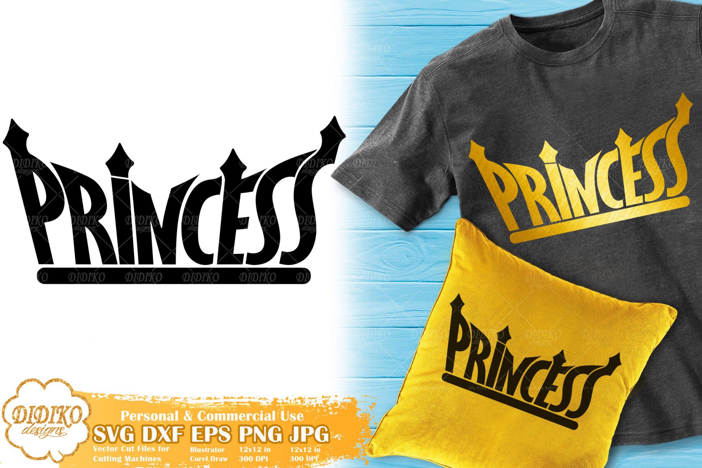 Black Princess SVG #6 | Birthday Princess Crown SVG