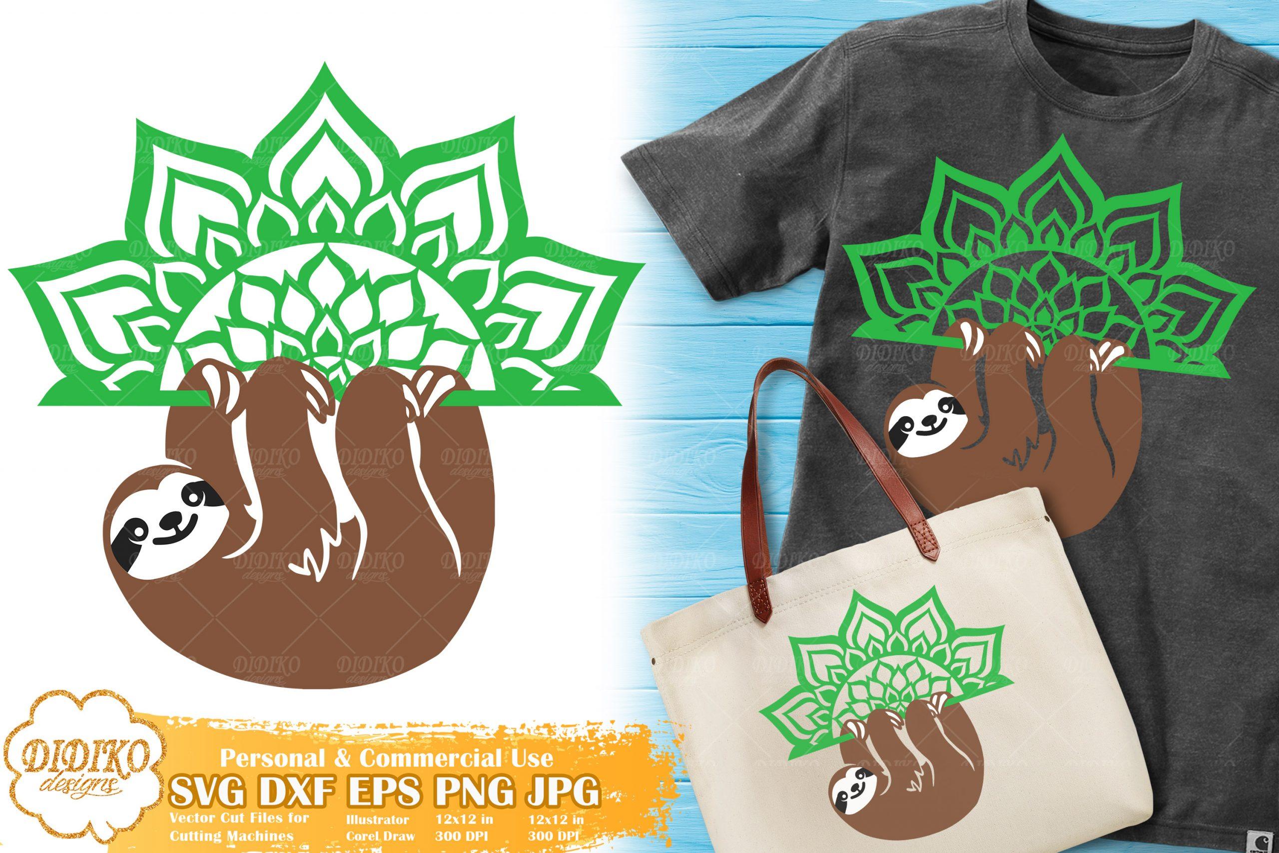 Sloth Mandala SVG