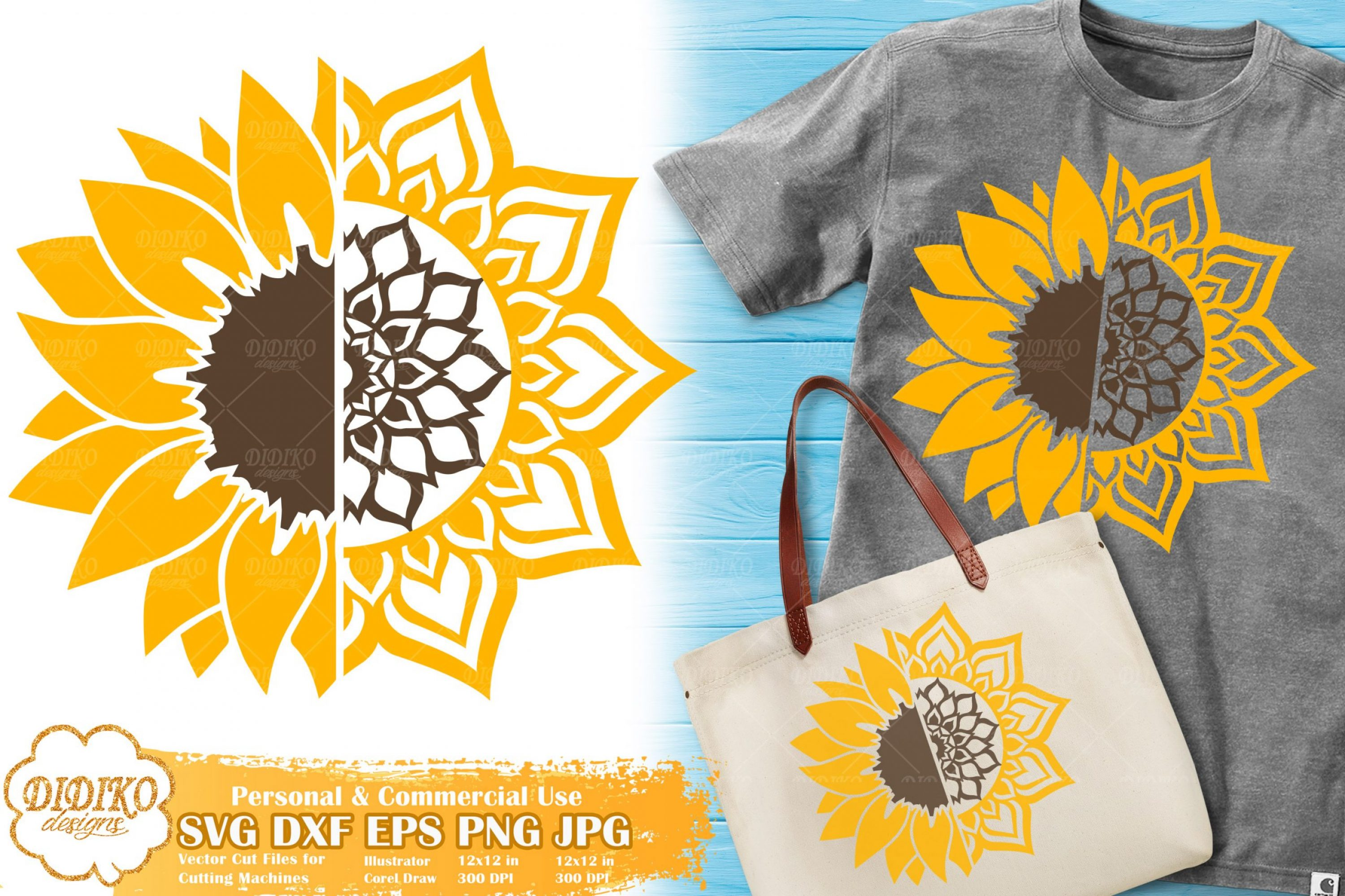 Sunflower Mandala SVG | Zentangle Summer SVG