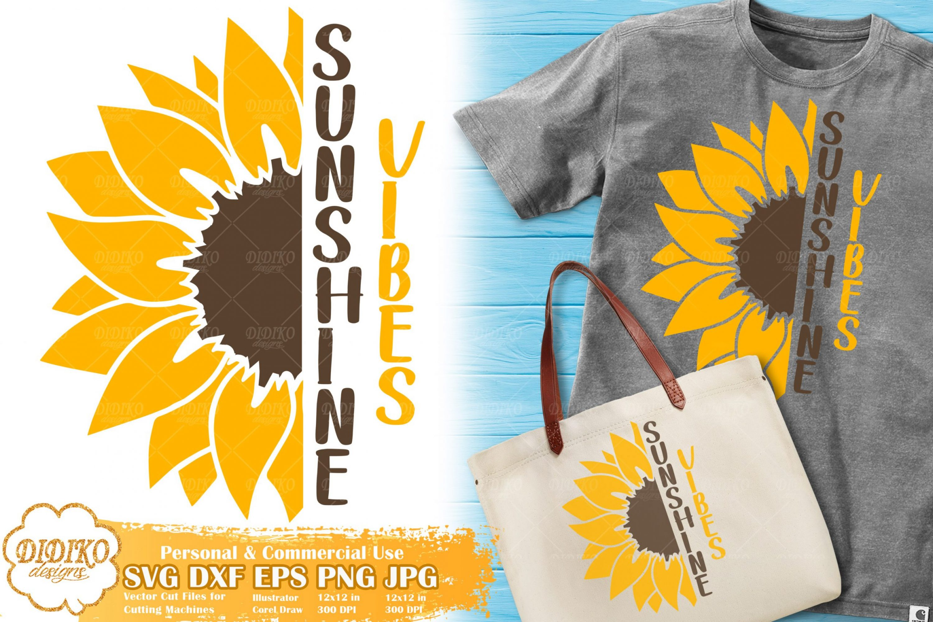 Sunflower Saying SVG | Half Sunflower SVG | Summer
