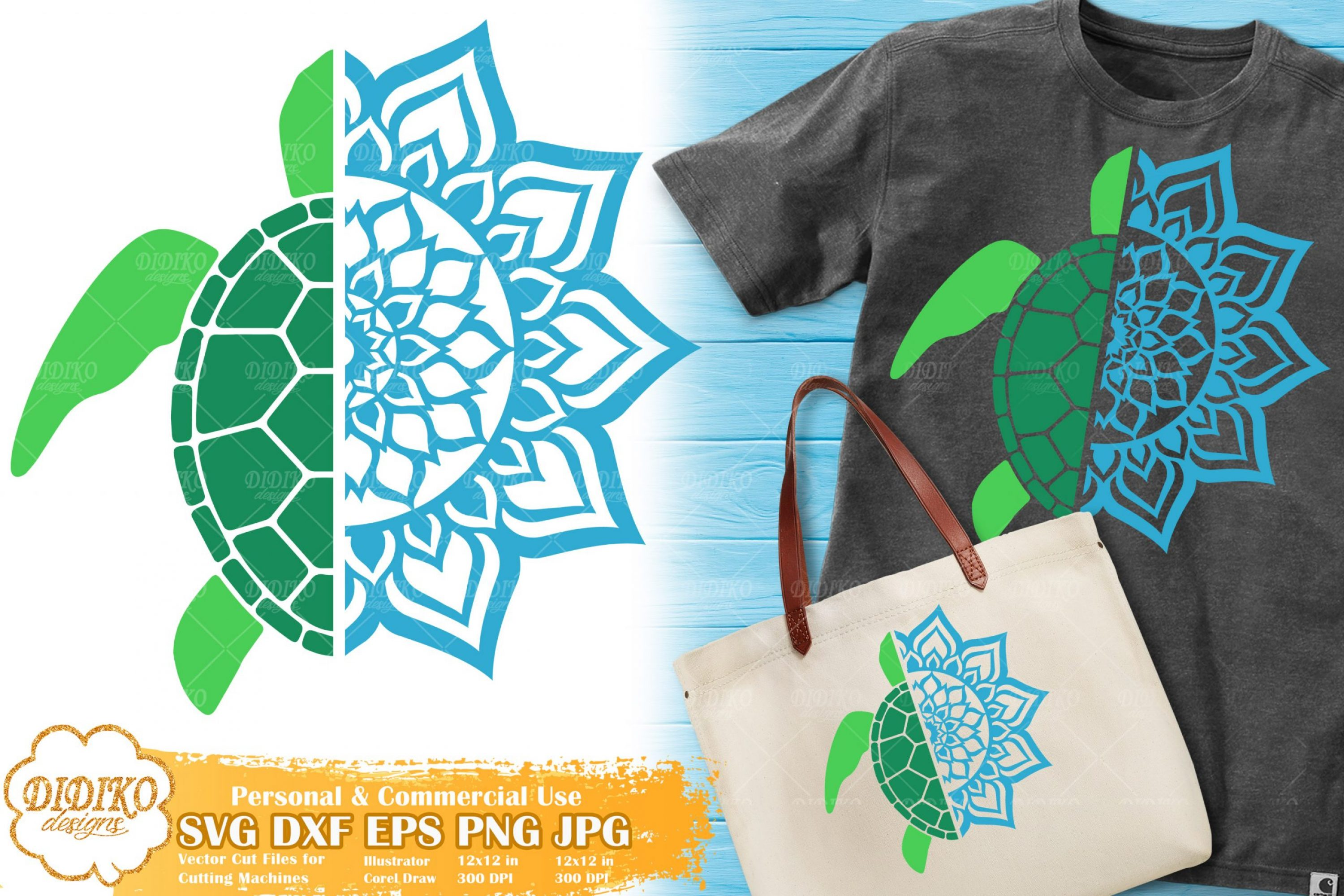 Turtle Mandala SVG | Summer Zentangle SVG Cut File