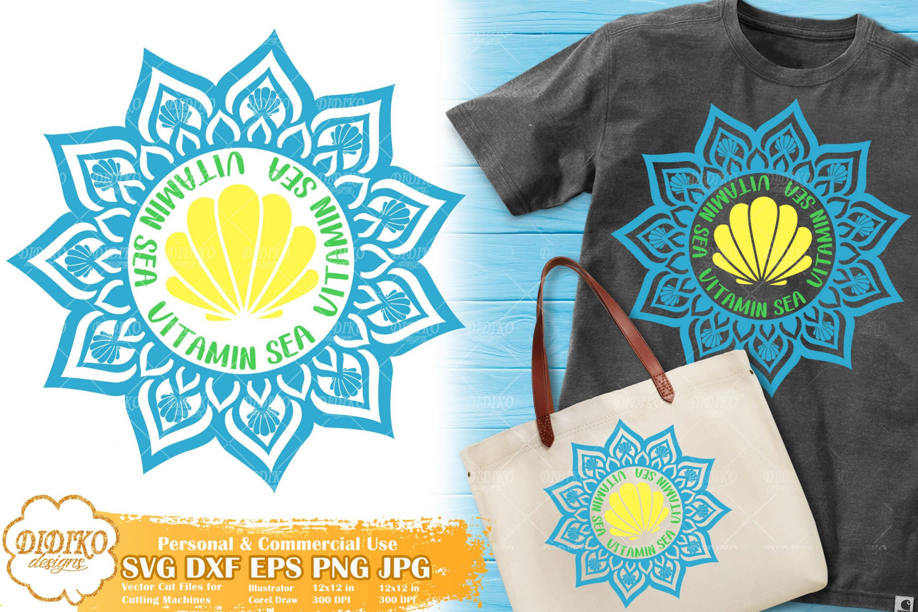 Vitamin Sea SVG | Mandala Nautical SVG | Seashell Svg