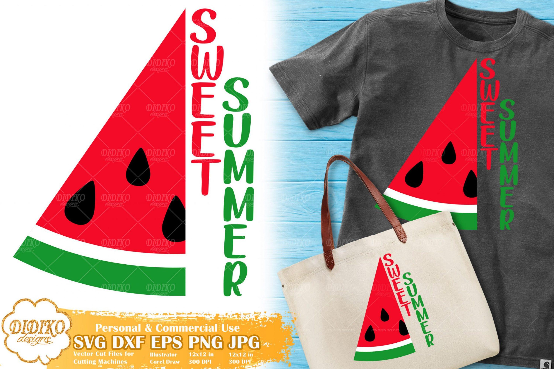 Sweet Summer SVG | Watermelon Saying Svg for Cricut
