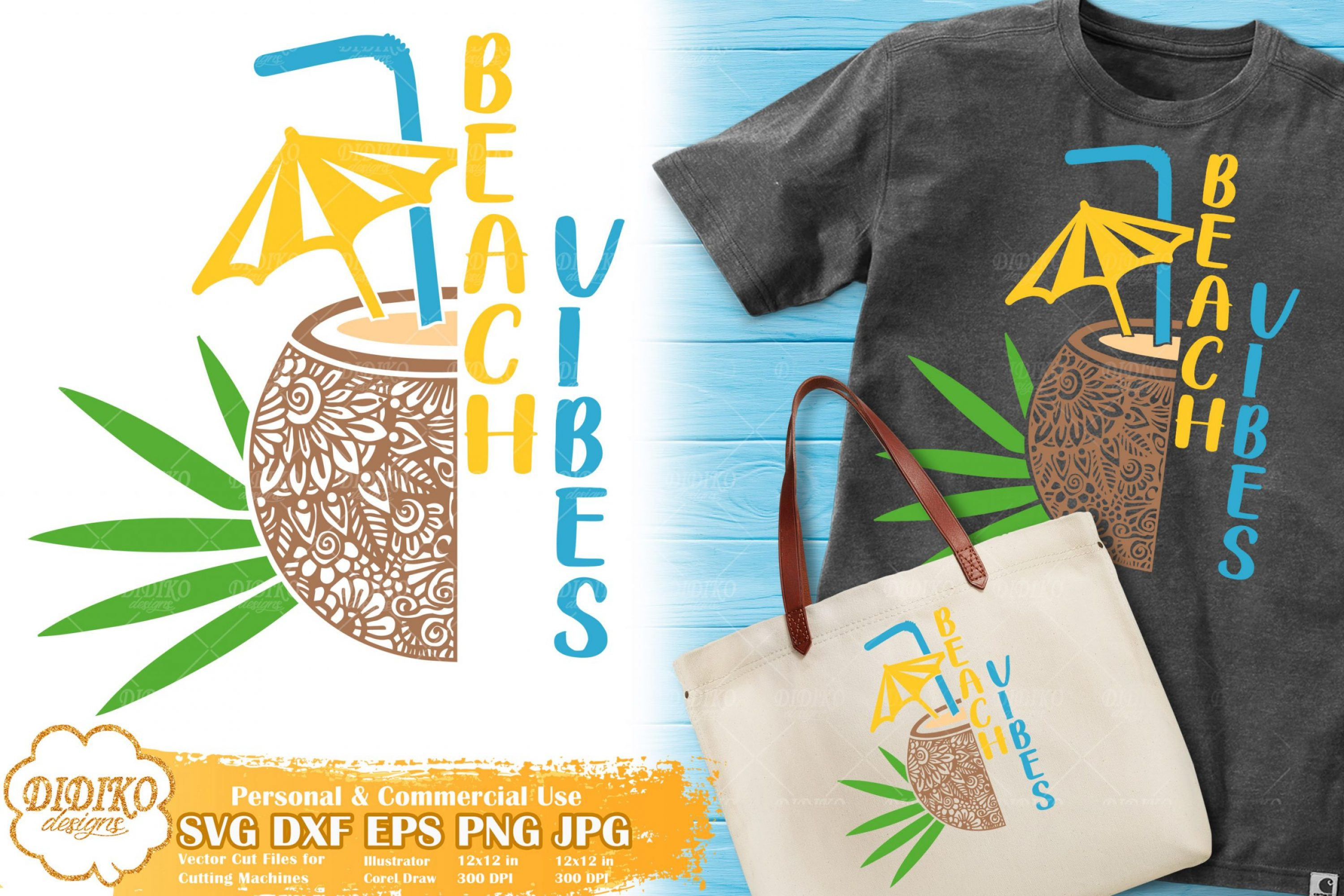 Coconut Zentangle SVG | Beach Vibes SVG for Cricut
