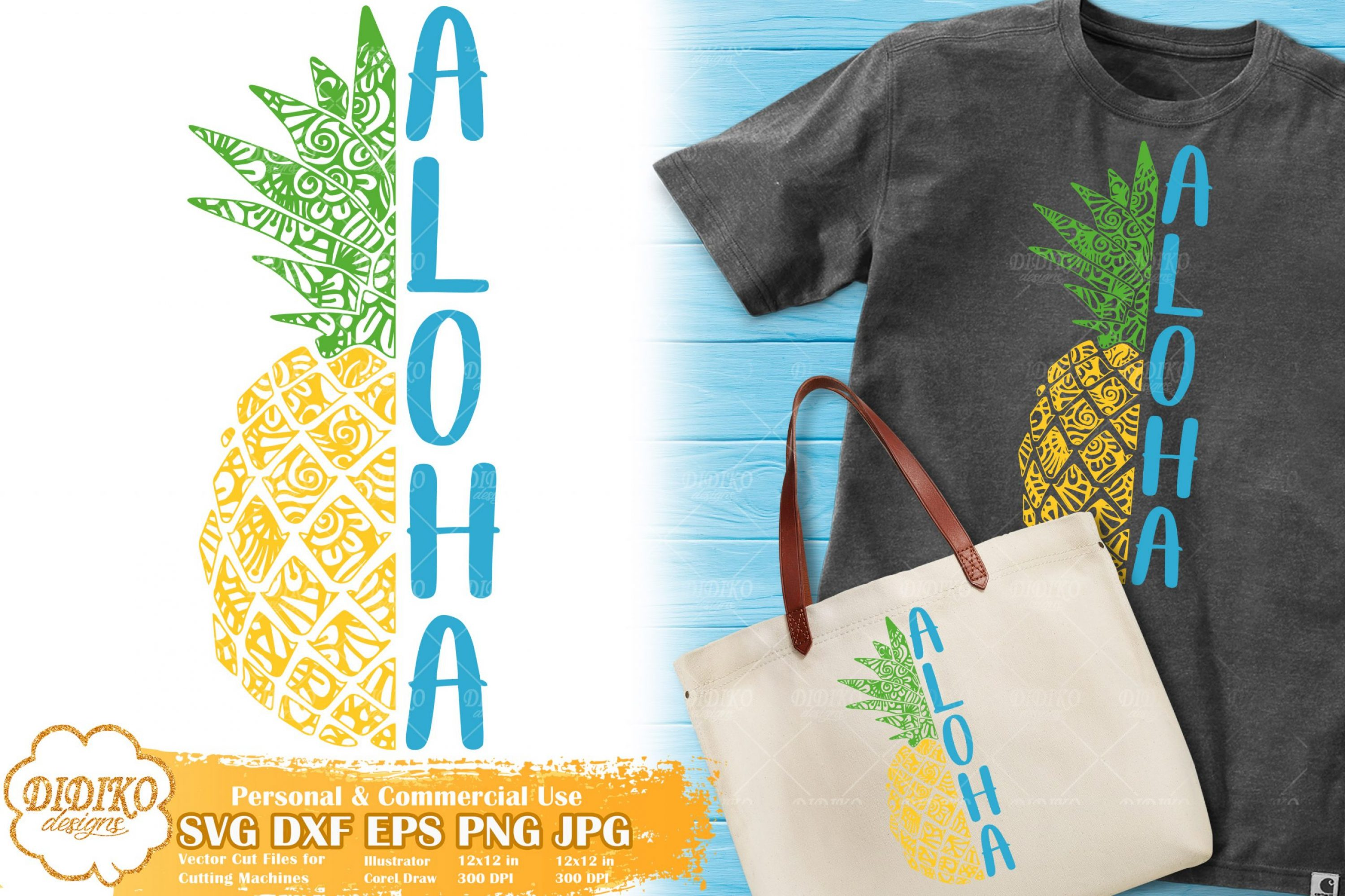 Pineapple Zentangle SVG | Aloha SVG file for Cricut