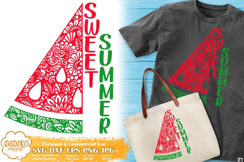 Watermelon Zentangle SVG | Summer Saying SVG File