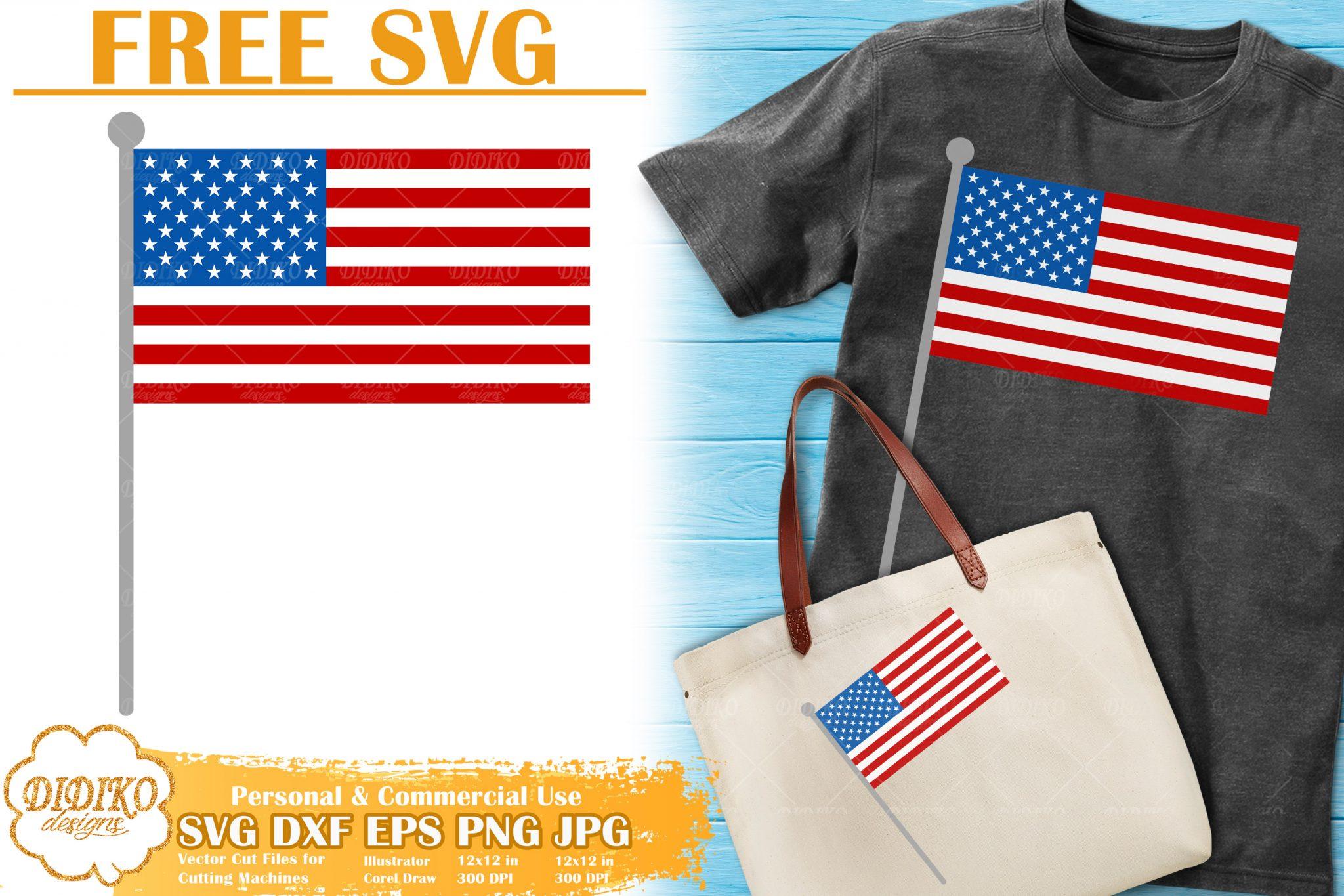 merican Flag Free SVG   4th of July Free SVG Cricut