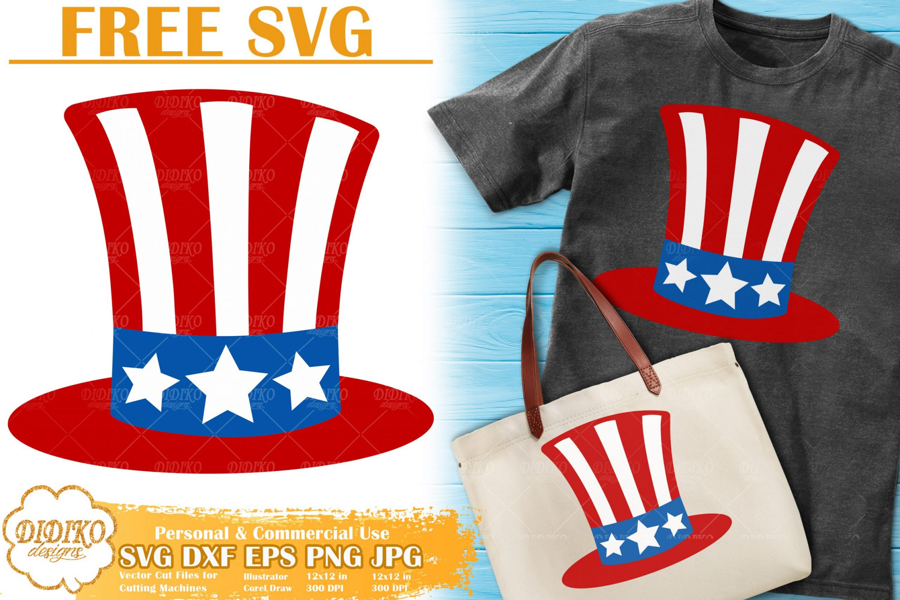 USA Hat Free SVG | 4th of July Free SVG | America Svg