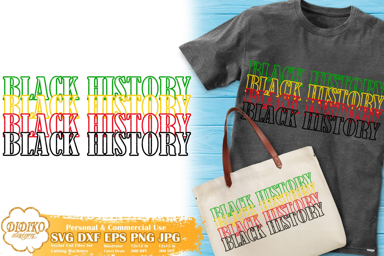 Black History Stacked SVG #2, Black Month SVG, Afro SVG, Cricut File, Cut File