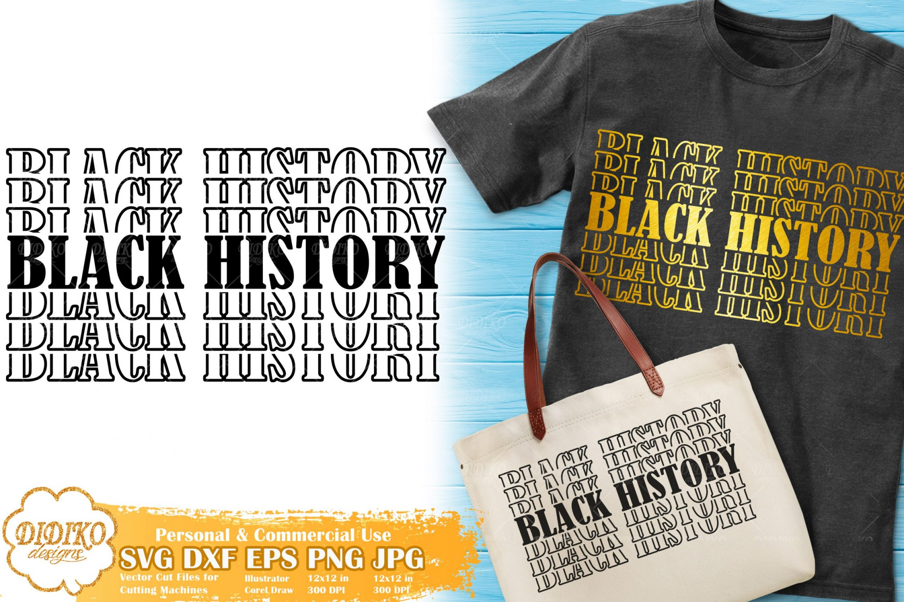 Black History Stacked SVG, Black Month SVG, Afro SVG, Cricut File, Cut File