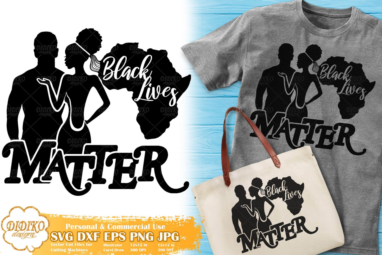 Black Lives Matter SVG #2 | Black Couple Love SVG