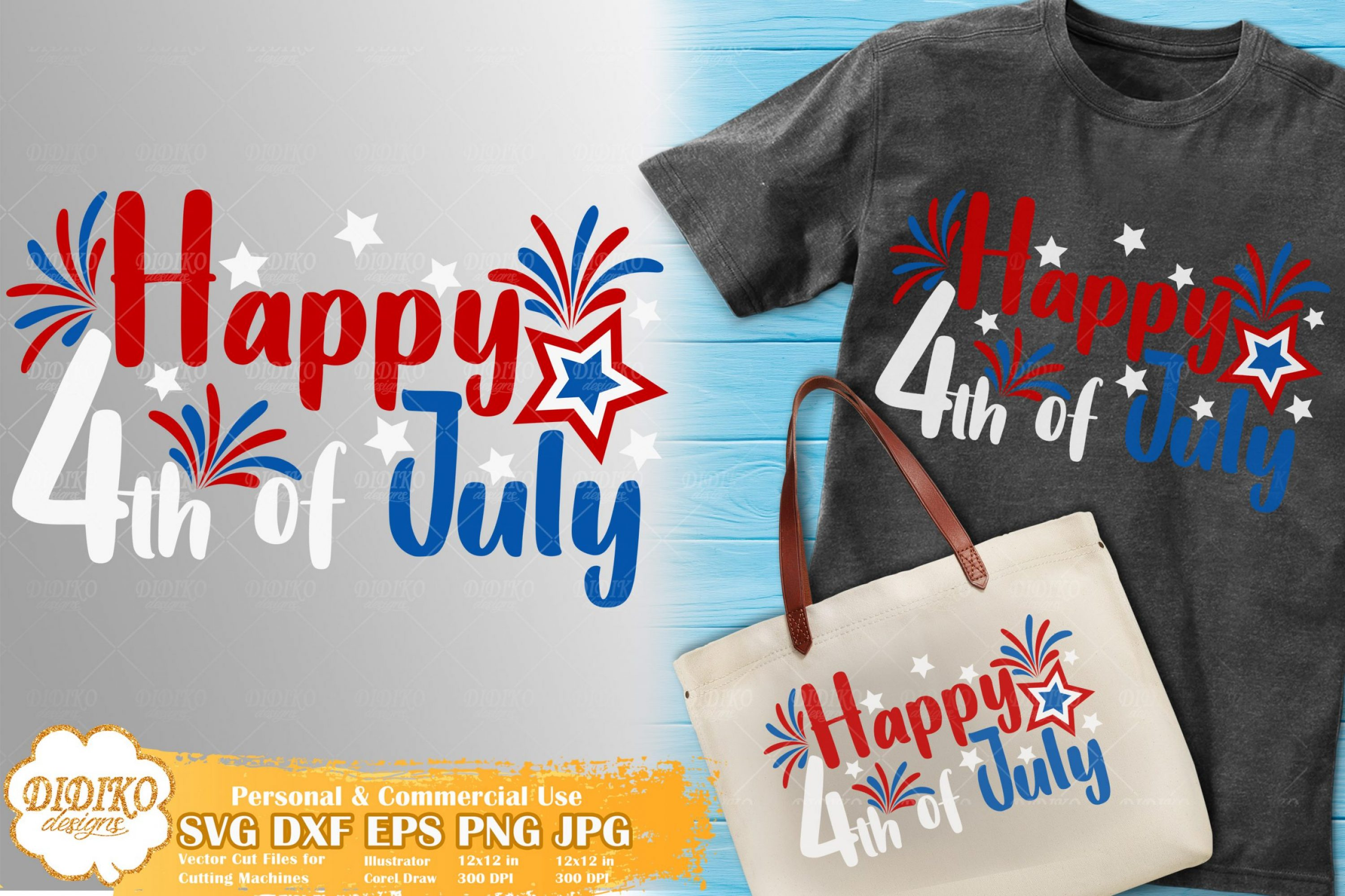 Happy 4th of July SVG | USA Flag SVG | America SVG