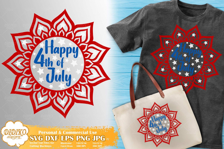 4th of July Mandala SVG | Mandala Cricut File | USA Svg