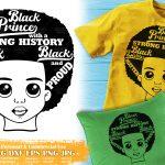 Black Boy with Words SVG #5