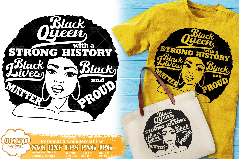 Black Woman with Words SVG #17 | Black Lives Matter