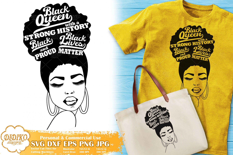 Black Woman with Words SVG #15   Black Lives Matter
