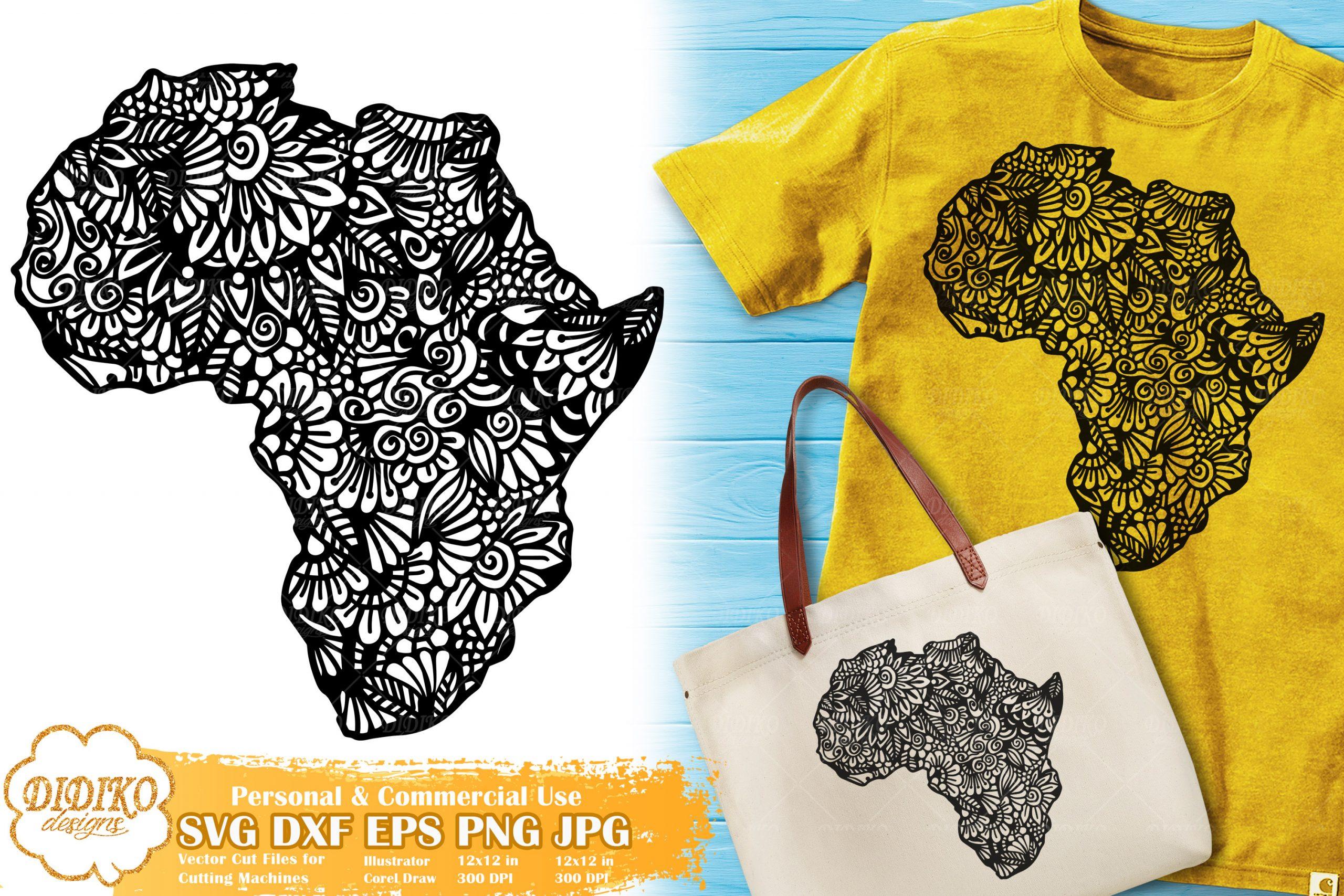 Zentangle Africa SVG