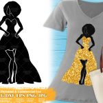 Black Woman Fashion SVG #9