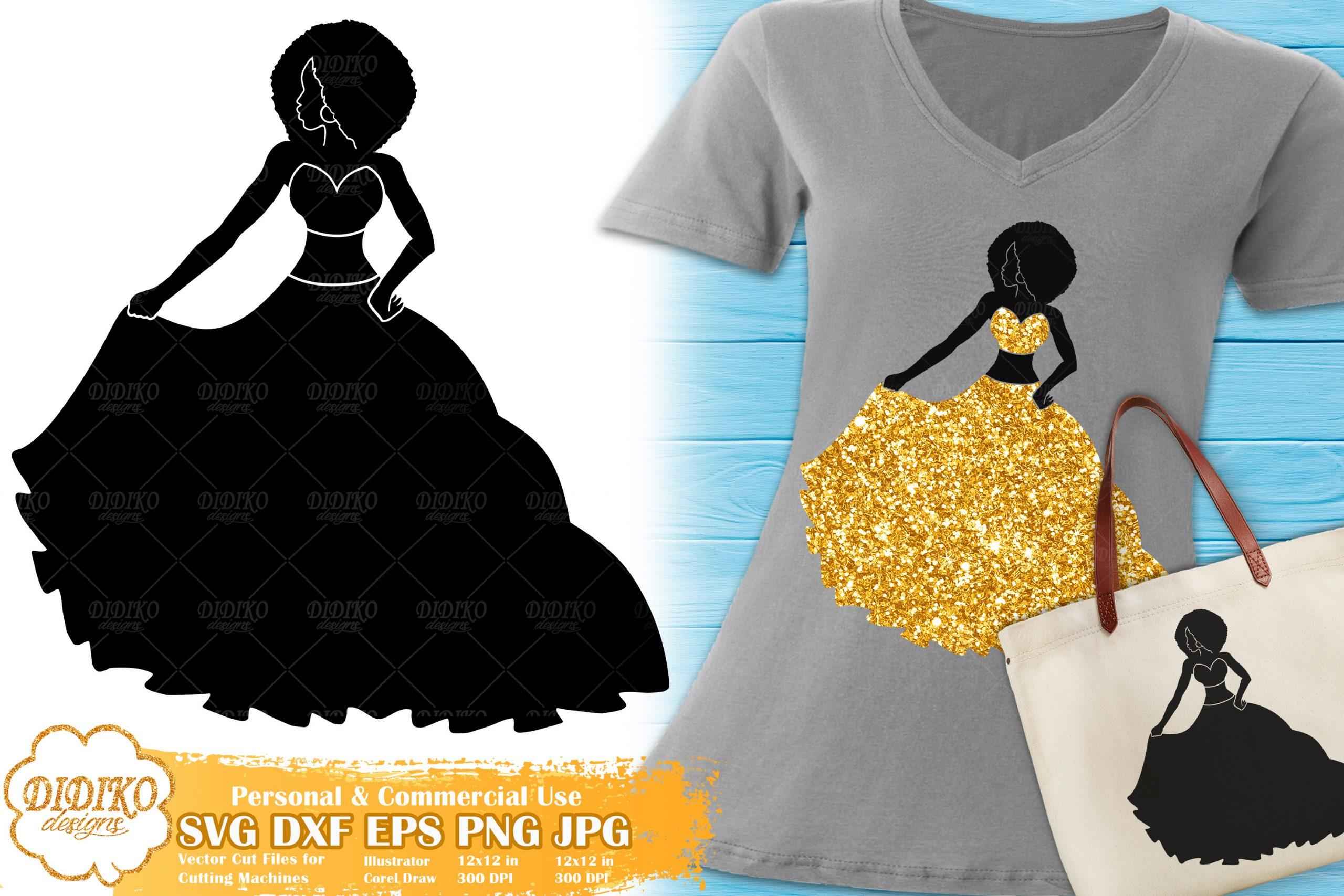 Black Woman Fashion SVG #10