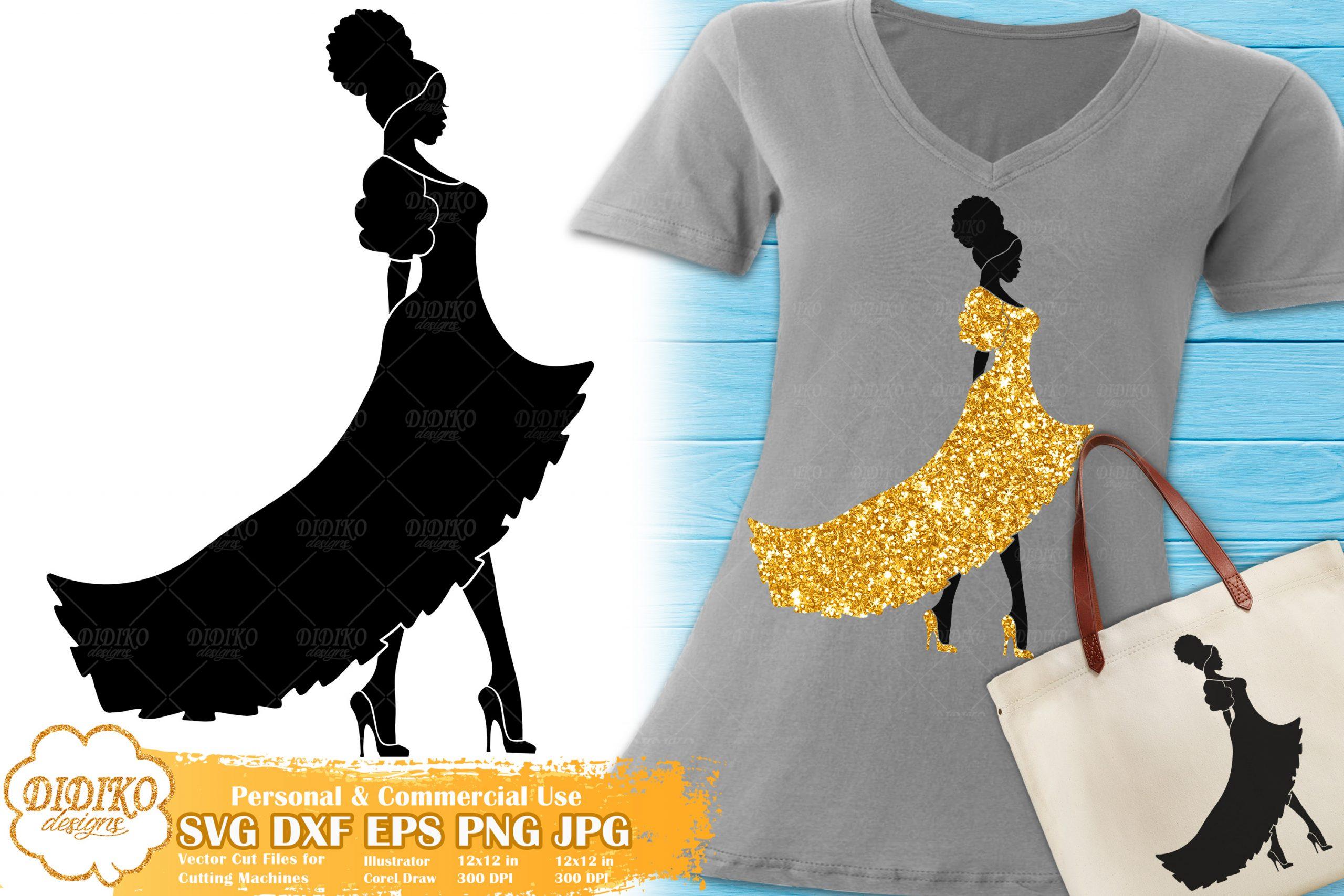 Black Woman Fashion SVG #11