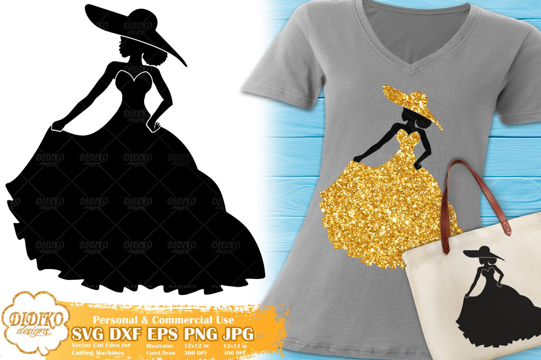 Black Woman Fashion SVG #12 | Afro Woman in Dress