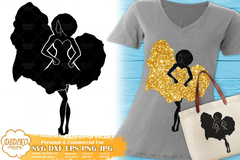 Black Woman Fashion SVG #14 | Afro Woman in Dress