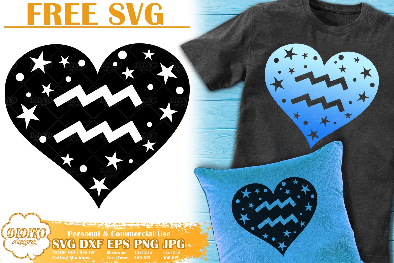 Aquarius SVG Free | Zodiac Sign SVG | Astrology SVG
